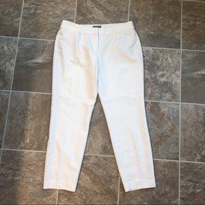 Express Capri Editor pants - white sz 10